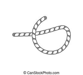 Seilknoten isoliertes Vektorsymbol