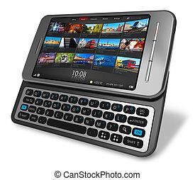 Seitenrutscher Touchscreen Smartphone