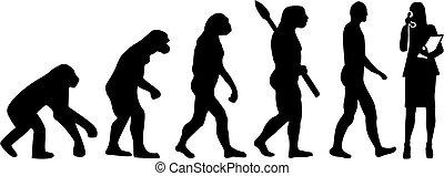 Sekretär Evolution.