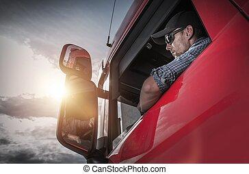 Semi Truck Fahrer