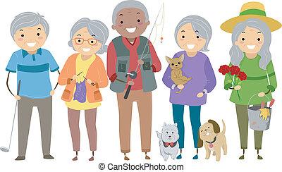 Seniorenaktivitäten.