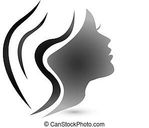 Sensibles Frauen-Mode-Logo.