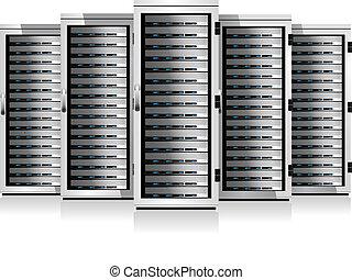 Server in Kabinetten.