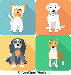 SET Hunde Ikonen Flachbild.
