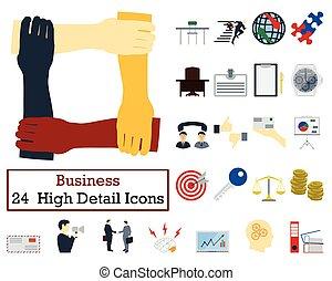 Set von 24 Business Icons