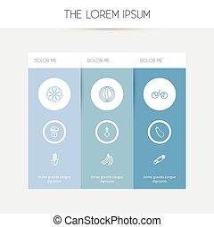 Set von 9 editierbaren Kochprogramm-Symbolen. Fügt Symbole wie Muskmelon, Mais, Beeren und mehr ein. Kann für Web-, Mobile-, UI- und infographisches Design verwendet werden.