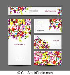 Set von abstrakten kreativen Visitenkarten Design.