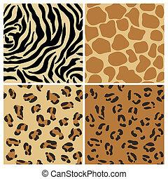 Set von Animal Patterns - für Design und Scrapbook - in Vektor.