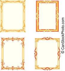 Set von dekorativen Rahmen und Grenzen gesetzt