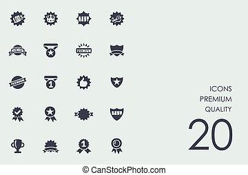 Set von hochwertigen Icons.