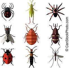 Set von Insekt-Flach Icons3.