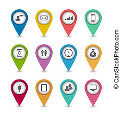 Setzen Sie Business Infographics Icons für das Design Website Layout.