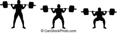 Setzt Athleten-Powerlifter-Übung