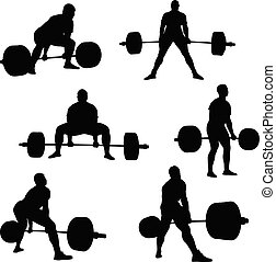 Setzt Athleten-Powerlifter.