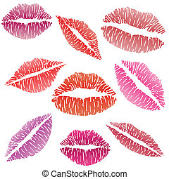 Sexy Lippenstift Kuss
