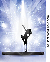 Sexy Pole Tänzerin.