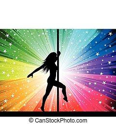 Sexy Pole-Tänzerin