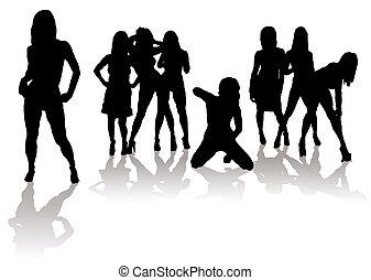 Sexy Silhouette-Frauen