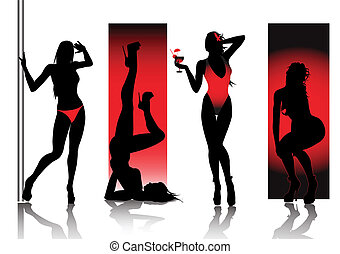 Sexy Silhouettes in Rot