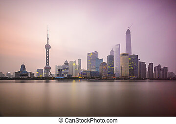 Shanghai, China City Skyline.