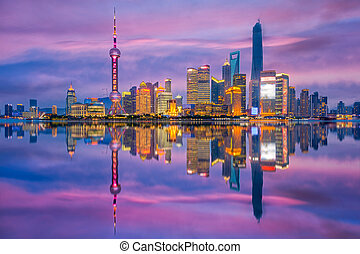 Shanghai China Cityscape.
