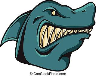 Shark Animal Maskottchen.