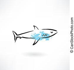 Shark Grunge Ikone.