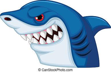 Shark Head Maskottchen Cartoon.