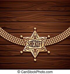 Sheriff-Abzeichen-Design.
