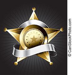 Sheriff-Abzeichen-Design