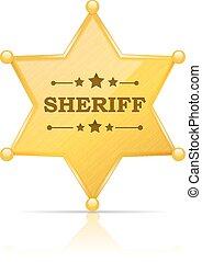 Sheriff-Abzeichen.