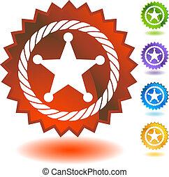 Sheriff-Seil-Icon-Abzeichen