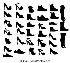 Shoes Silhouette Vektorgrafik eps 10.