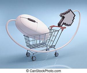 shoppen, hand