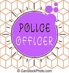 showcasing, hand, geformt, polizei, muster, officer., durchsetzung, foto, design., begrifflich, schreibende, ausstellung, mannschaft, geschaeftswelt, demonstrieren, multicolour, gesetz, gegenstand, offizier, ungleich, asymmetrisch