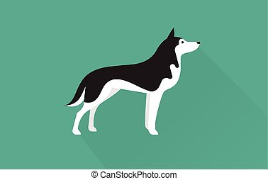 Sibirien Husky Ikone.