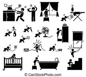 Sicherheit zu Hause für Kinder.