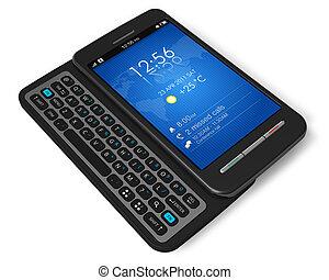 Side-Slider Touchscreen Smartphone.