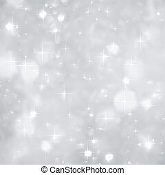 Silber funkelt im Hintergrund Weihnachten. Vector