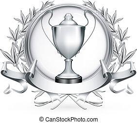Silberem Emblem, Vektor.