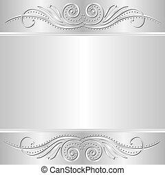 Silberer Hintergrund.