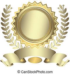 Silberne Auszeichnung mit Band (Vektor)