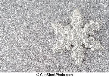 Silberne Schneeflocke