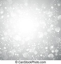 Silberne Schneeflocke Weihnachten Hintergrund.