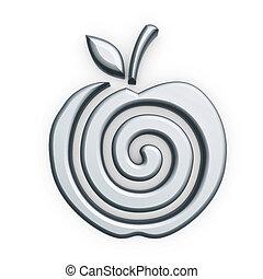 Silberner Apfelsymbol