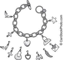 Silberner Armband.