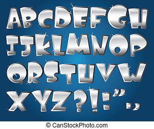 Silbernes Alphabet