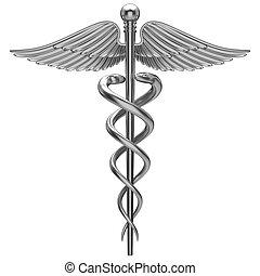 Silbernes medizinisches Symbol
