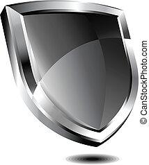 Silberschild.