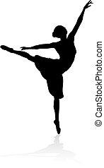 Silhouette Balletttänzerin.